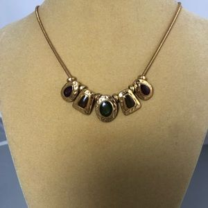 Jewelry - Gold Plated Multi Drop Pendant Necklace
